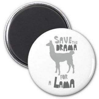 Lama Drama 2 Inch Round Magnet