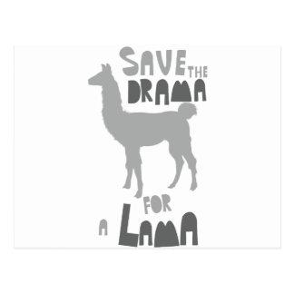 Lama Drama Postcard