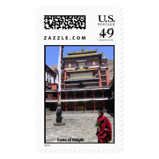 Lama of tempie postage stamp