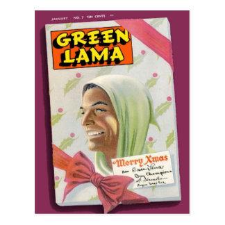 Lama verde 7 postal