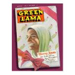 Lama verde 7 tarjetas postales