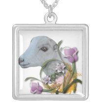 LaMancha Goat Floral  Necklace