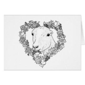 LaMancha Head in Heart Greeting Card