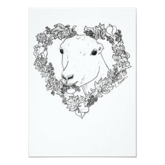 "LaMancha Head in Heart 4.5"" X 6.25"" Invitation Card"