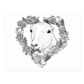 LaMancha Head in Heart Postcard