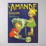 l'Amande francés de Savon de los niños de la Póster