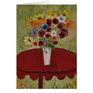 L'amante del Bouquet FlorealeLover's Floral Bouque Card