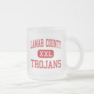 Lamar County - Trojans - Barnesville 10 Oz Frosted Glass Coffee Mug