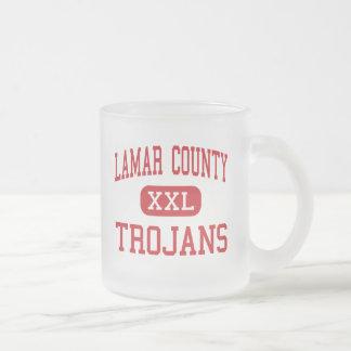 Lamar County - Trojans - Middle - Barnesville 10 Oz Frosted Glass Coffee Mug