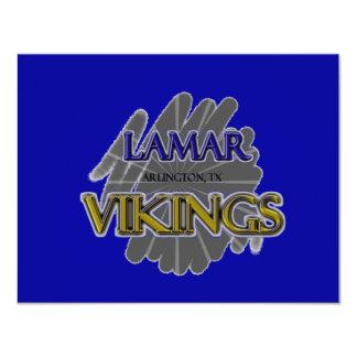 """Lamar High School Vikings - Arlington, TX 4.25"""" X 5.5"""" Invitation Card"""