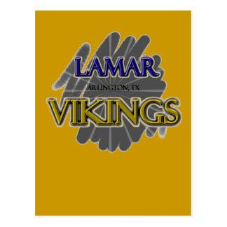 Lamar High School Vikings - Arlington, TX Postcard