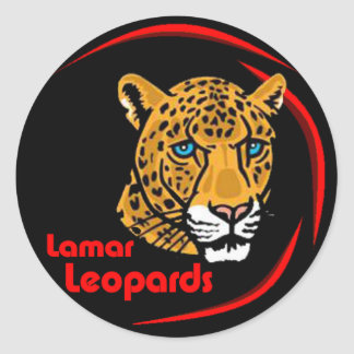 Lamar Leopards Stickers - Small
