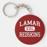 Lamar - Redskins - High School - Houston Texas Basic Round Button Keychain