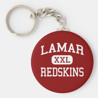 Lamar - Redskins - High School - Houston Texas Keychain
