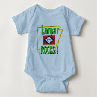 Lamar Rocks ! (green) Baby Bodysuit