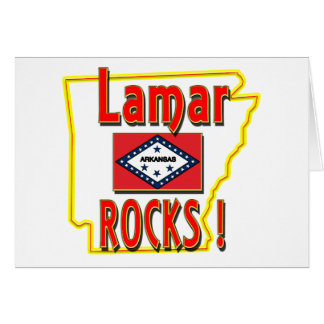 Lamar Rocks ! (red) Card
