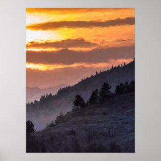 Lamar Valley Sunset Poster