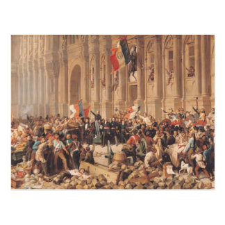 Lamartine rejects the red flag in 1848 postcard