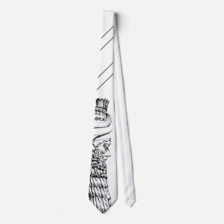 Lamassu Black n White Painting Tie 3