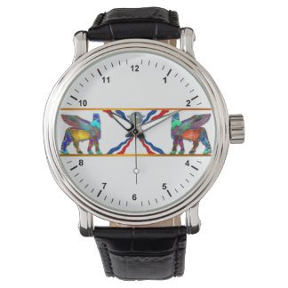 lamassu Flag Vintage Leather Strap Watch, Watches