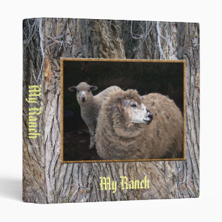 Lamb and Sheep 3 Ring Binder