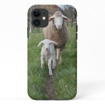 Lamb and sheep iPhone 11 case