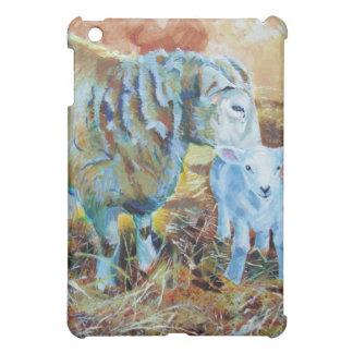 Lamb and sheep painting iPad mini cover