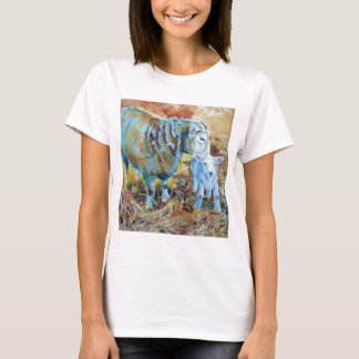 Lamb and sheep painting T-Shirt