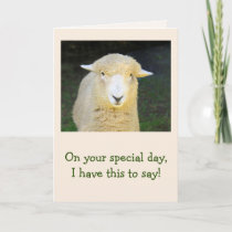 Lamb And Sheep Poetry Birthday Card
