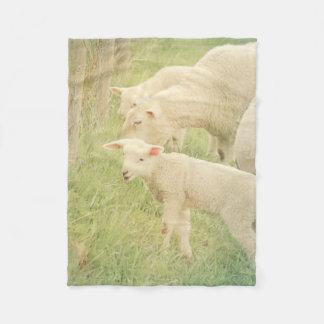 Lamb Baby Animals Sheep Nursery Fleece Blanket