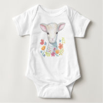 Lamb Baby clothes Christian Baby Shower Gift Sheep Baby Bodysuit