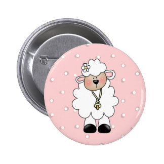 Lamb Baby Shower Favor Pinback Button