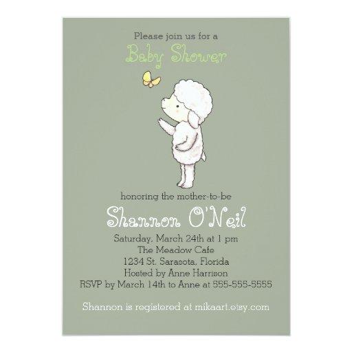 lamb baby shower invitation cute lamb christian zazzle