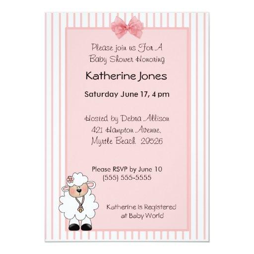 lamb baby shower invitations zazzle