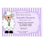 lamb, baby shower invitations, mom to be, purple,