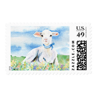 Lamb Baby Shower Stamp