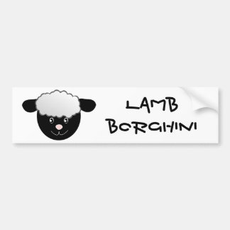 Lamb Borghini funny Sheep Pun Bumper Sticker