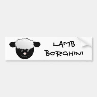 Lamb Borghini funny Sheep Pun Bumper Sticker