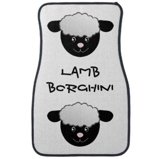 Lamb Borghini funny Sheep Pun Car Mat