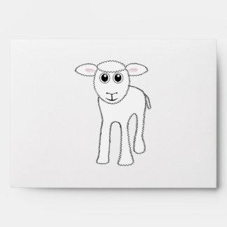 Lamb cartoon envelope
