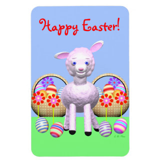 Lamb Character and Easter Baskets Magnet