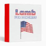 Lamb for Congress Patriotic American Flag Vinyl Binders