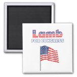 Lamb for Congress Patriotic American Flag Magnets