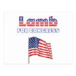 Lamb for Congress Patriotic American Flag Post Card