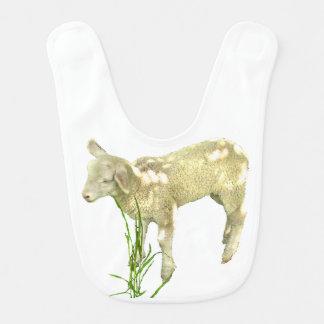 Lamb Grazing in Grass Baby Bib