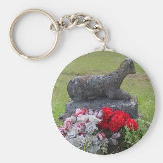 Lamb Headstone Keychain