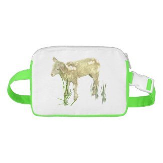 Lamb in Green Grass Fanny Pack