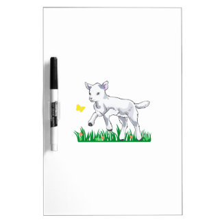 LAMB IN MEADOW DRY ERASE WHITEBOARDS
