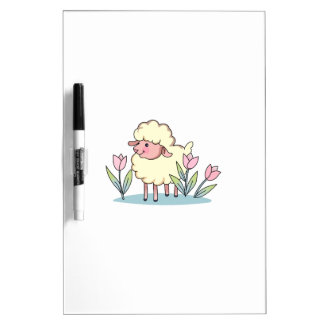 LAMB IN TULIPS Dry-Erase WHITEBOARDS