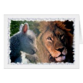 Lamb Lion Greeting Cards